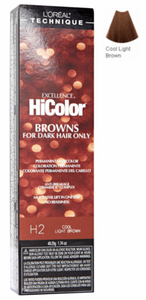 L'Oreal Excellence HiColor Browns for Dark Hair Only H2 Cool Light Brown
