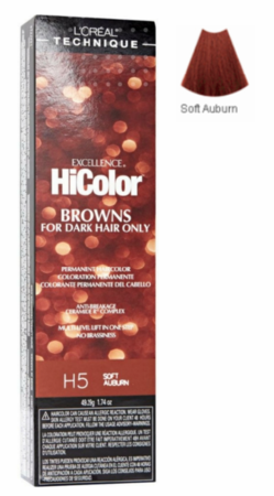 L'Oreal Excellence HiColor Browns for Dark Hair Only H5 Soft Auburn
