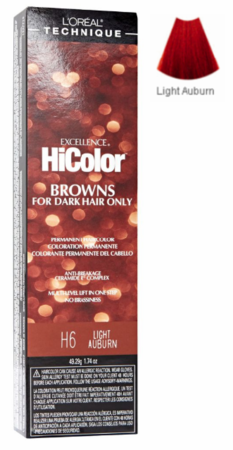 L'Oreal Excellence HiColor Browns for Dark Hair Only H6 Light Auburn
