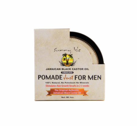 Sunny Isle Pomade Just for Men Jamaican Black Castor Oil Hair Food 4 oz