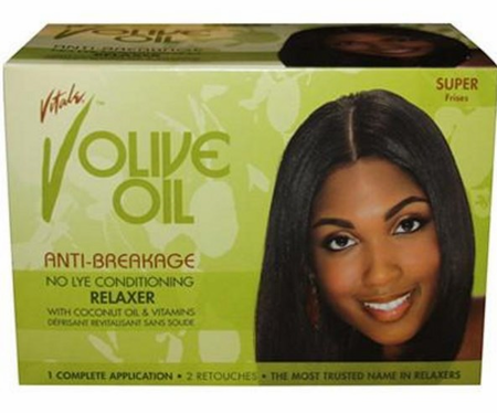 Vitale Olive Oil Anti Breakage No Lye Relaxer Super Kit