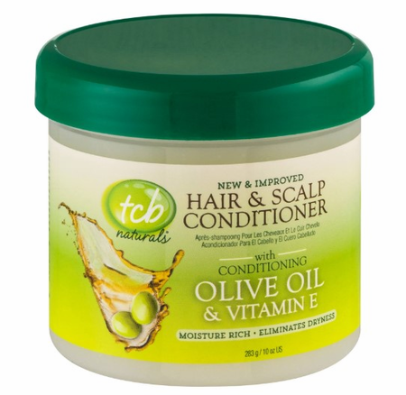 TCB Naturals Hair & Scalp Conditioner With Olive Oil 10 oz