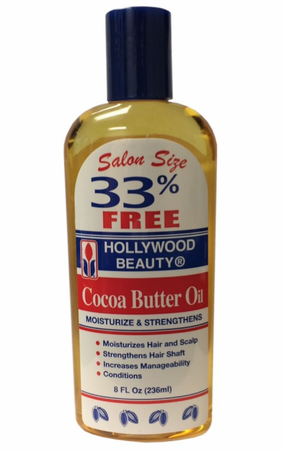 Hollywood Beauty Cocoa Butter Oil Hair & Scalp Moisturizing Treatment 8 oz