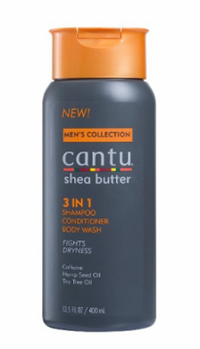 Cantu Mens Collection 3 in 1 Shampoo Conditioner Body Wash 13.5 oz