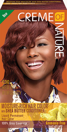 Creme of NATURE Moisture Rich Hair Color Red Hot Burgundy C30<p
