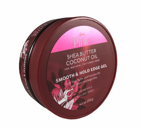 Luster's Pink Shea Butter Coconut Oil Smooth & Hold Edge Gel 4.5oz