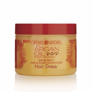 Creme of NATURE Argan Oil Day & Night Hair & Scalp Conditioner Hair Dress 4.76 oz