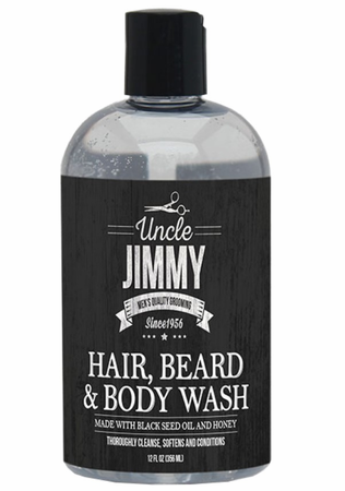 Uncle Jimmy Hair Beard & Body Wash 12 oz