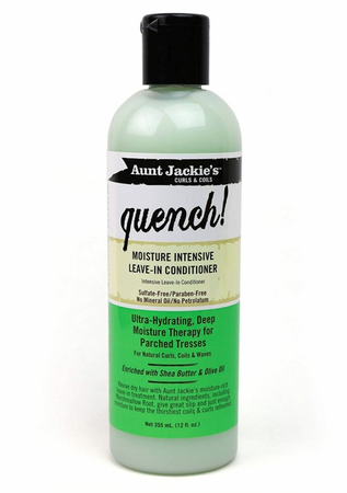 Aunt Jackie's Quench Moisture Intensive Leave In Conditioner 12 oz