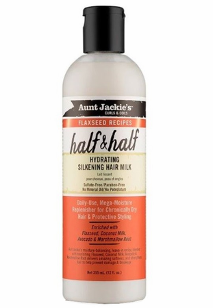 Aunt Jackie's Flaxseed Collection Half & Half Hydrating Silkening Hair Milk 12 oz
