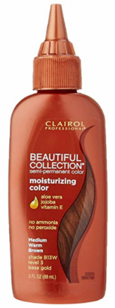 Clairol Professional Beautiful Collection Semi Permanent Hair Color Medium Warm Brown 3 oz