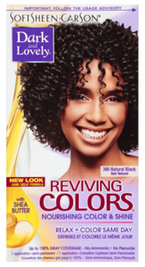 Dark and Lovely Reviving Colors Semi Permanent Hair Color Natural Black