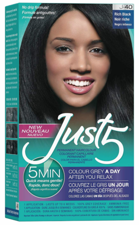 Just 5 5 Min for Women Permanent Hair Color Rich Black