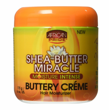 African Pride Shea Butter Miracle Hair Moisturizer Butter Creme 6 oz