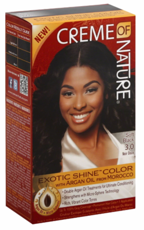 Creme of NATURE Exotic Shine Hair Color Soft Black 3.0