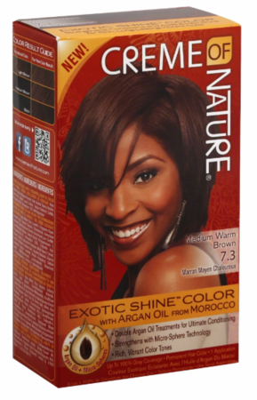Creme of NATURE Exotic Shine Hair Color 7.3 Medium Warm Brown