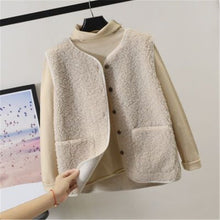 Load image into Gallery viewer, Lamb Hair Vest Women's Autumn Winter 2020 Korean Style Sleeveless All-Match Female Coats Simple Leisure Outwear Chic