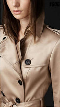Load image into Gallery viewer, 2019 Autumn New Brand Women Trench Coat Long Windbreaker Europe America Fashion Trend Double-Breasted Slim Long Trench Q1534