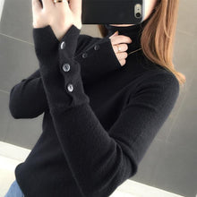 Load image into Gallery viewer, Autumn Winter 2020 Long Sleeve Turtlenec Knitted Pullover Sweater Women Korean Slim-Fit Tight Sweater