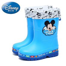 Load image into Gallery viewer, Disney children's rain boots boys and girls water shoes baby water boots kids non-slip plus velvet warm rain boots EU size 26-35