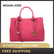 Load image into Gallery viewer, Michael Kors MK 30S6GS7S3L Savannah Large Leather Satchel