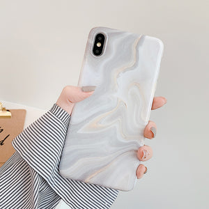 LOVECOM Phone Case For iPhone 12 11 Pro Max XR XS Max 6 7 8 Plus X Soft IMD Cute Pink Vintage Marble Full Body Back Cover Coque