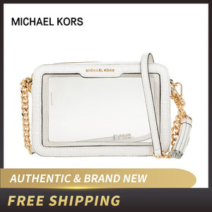 Authentic Original & Brand new luxury Michael Kors Ginny Medium Clear And PVC Crossbody Bag 32S9GF5M2P