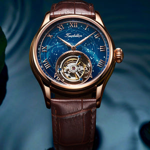 100% Tourbillon GUANQIN Men watches top brand luxury Tourbillon clock men Sapphire Skeleton mechanical watch Relogio Masculino