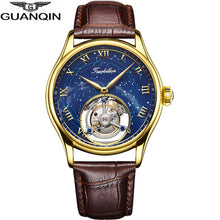 Load image into Gallery viewer, GUANQIN 100% Original Tourbillon watch top brand luxury Skeleton waterproof Sapphire  Skeleton Private custom Relogio Masculino