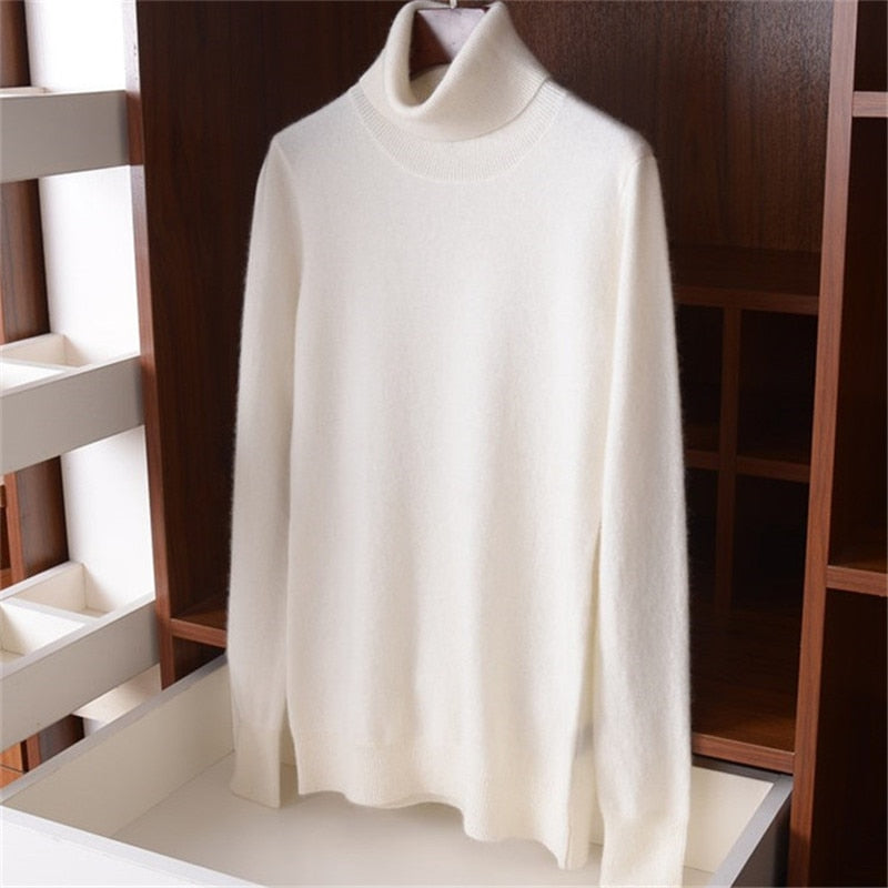 high grade 100%cashmere knit women fashion turtleneck pullover sweater S-L retail wholesale
