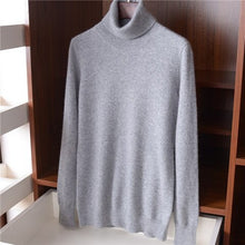 Load image into Gallery viewer, high grade 100%cashmere knit women fashion turtleneck pullover sweater S-L retail wholesale