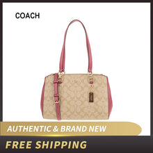 Load image into Gallery viewer, Authentic Original & Brand New   Coach Signature ETTA Leather Carryall F77881 Shoulder Bag