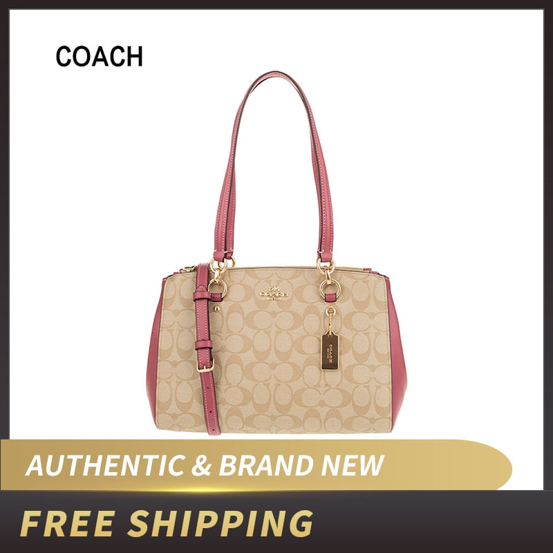 Authentic Original & Brand New   Coach Signature ETTA Leather Carryall F77881 Shoulder Bag