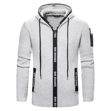 Load image into Gallery viewer, NEGIZBER 2019 Off White Sweater Men Cardigan Solid Slim Fit Zipper Hoody Sweaters Men Fashion Thick Cardigan Men Sweater Coats