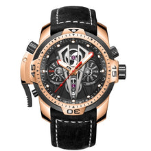 Load image into Gallery viewer, Reef Tiger/RT New Arrival All Black Brand Luxury Waterproof Wrist Watch Stainless Steel Chronograph Relogio Masculino RGA3591