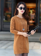 Load image into Gallery viewer, Women Sweaters Pullovers 2020 New Autumn Winter Long Knitted Sweater Knitwear Female Long Sleeve Jumper Bottoming Tops Plus size