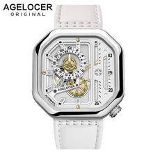 Load image into Gallery viewer, Swiss Brand AGELOCER Sport Watches for Men Skeleton Dial with Luminous Hands Unique Mechanical Watches Power Reserve 42 Hours