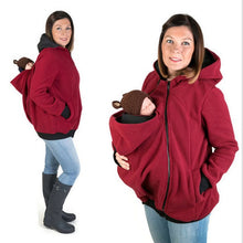 Load image into Gallery viewer, New 2020 Thickened Pregnancy wool babywearing Maternity Hoodies Baby Carrier Jacket Kangaroo Outerwear Hoodies &Sweatshirts Coat