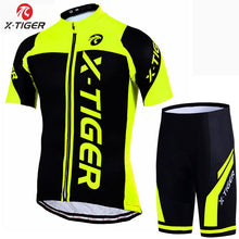 Load image into Gallery viewer, X-Tiger 100% Polyester Pro Cycling Jersey Set MTB Bicycle Clothes Sportswear Bike Clothing Maillot Ropa Ciclismo Cycling Set