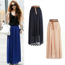 Load image into Gallery viewer, New Brand Fashion Designer Sexy Style Skirt  Women Sexy Chiffon Candy Color Long Skirt High Quality  Nice designs Hot selling