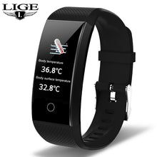 Load image into Gallery viewer, LIGE New Smart Watch Men Body Temperature Heart Rate Blood Pressure Monitor IP68 Waterproof Sport Smartwatch For IOS Android+Box