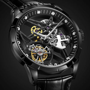 Guanqin Tourbillon Men Watches luxury mechanical Watch Real Brand 100% Waterproof  Tourbillon clock men Relogio Masculino