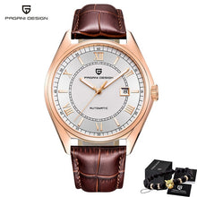 Load image into Gallery viewer, PAGANI Men's Mechanical Watches 2020 Top Brand Luxury Watch Men Automatic Leather Watch Men Waterproof Clock Relogio Masculino
