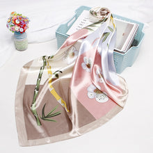 Load image into Gallery viewer, Fashion Hijab Scarf For Women Print Silk Satin Hair Scarfs Kerchief 90*90cm Square Neckerchief Headband Scarves For Ladies 2019