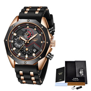 2020 New Military Watch Sports Mens Watches LIGE Top Brand Luxury Clock Waterproof Quartz Silicone Watch Men Relogio Masculino
