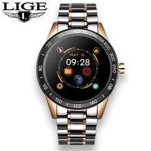 Load image into Gallery viewer, LIGE Steel Band Smart Watch Men Heart Rate Blood Pressure Monitor Sport Multifunction Mode Fitness Tracker Waterproof Smartwatch