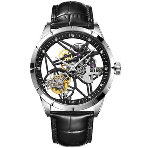 Original Tourbillon Mechanical Men's  Watches Skeleton Luxury Brand Sport Men Clock Fashion Waterproof Men Watch Zegarek Meski