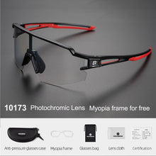 Load image into Gallery viewer, ROCKBROS Photochromic Bike Glasses Bicycle UV400 Sports Sunglasses for Men Women Anti Glare Lightweight Hiking Cycling Glasses
