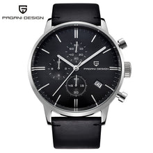 Load image into Gallery viewer, PAGANI DESIGN Mens Watches Top Brand Luxury Waterproof 30M Genuine Leather Japanese VK67 Movement Quartz Watch Relogio Masculino