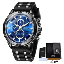 Load image into Gallery viewer, 2020 New Mens Watches Top Brand Luxury Watch Men Military Waterproof Silicone strap Quartz Wrist Watch For Men Sport Chronograph